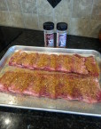 Beef Back Ribs with Boo Yah Beef and Cattle Call rubs (raw)