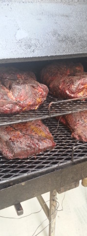 Butts & Brisket on smoker