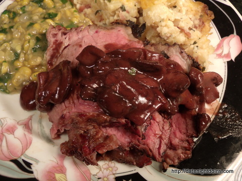 Tri Tip with Red Wine Reduction