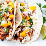 Chilean Sea Bass with Grilled Mango Salsa Taco