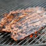 SinS grilled-flank-steak on charcoal